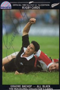 Graeme Bachop New Zealand Rugby All Blacks Hand Signed Rugby Photo