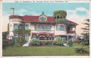 Residence , Orange Grove Avenue , Pasadena , California , PU-1928