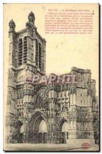 Old Postcard Troyes La Cathedrale Saint Pierre