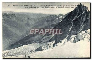 Old Postcard Ascent of Mont Blanc view of the little tray on the Aiguille du ...