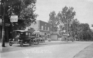 1927 Keego Harbor Michigan Main Street View Barbecue Restaurant RPPC Postcard