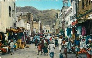 Yemen Aden native bazaar scene semi-modern postcard