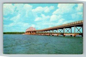Kentucky Lake KY-Kentucky, Eggner's Ferry Bridge, Chrome Postcard