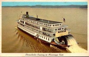 Mississippi Valley Sternwheeler Cruising On Mississippi River 1972