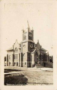 LP57 Norwegian Lutheran Church Clermont    Iowa Vintage Postcard RPPC