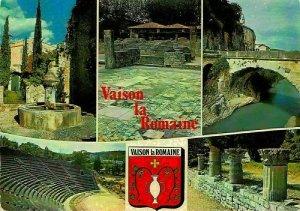 France Vaison la Romaine Vaucluse Fountain River Bridge Theatre Postcard