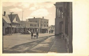 Kingfield ME Main Street 1st National Store Storefronts Real Photo Postcard