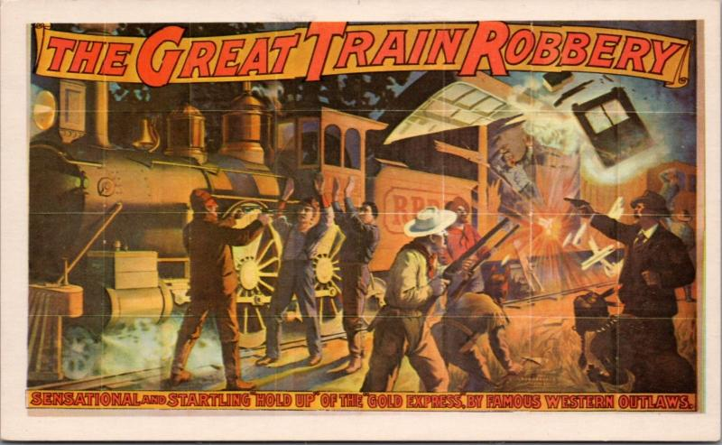 The Great Train Robbery A.H. Woods Repro Card D40