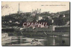 Postcard Old Lyon Quai Pierre Soize and Fourviere