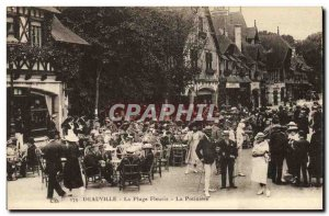Old Postcard Deauville Beach Fleurie La Potiniere