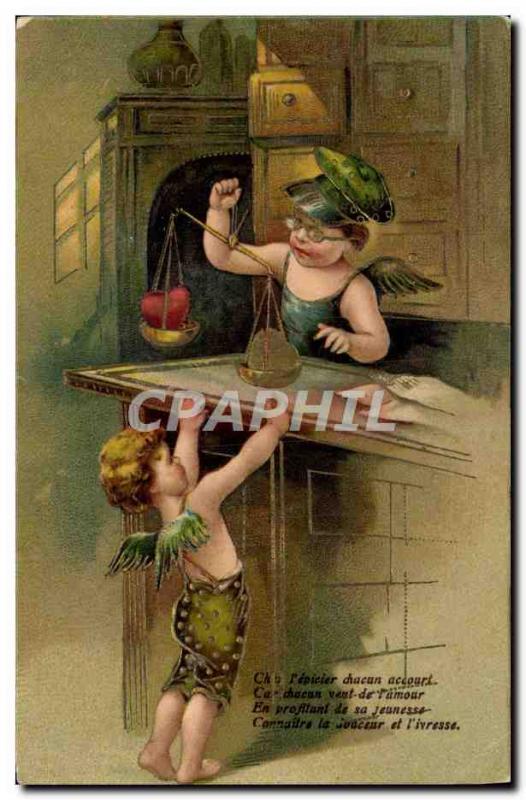 Old Postcard Fantasy Angels