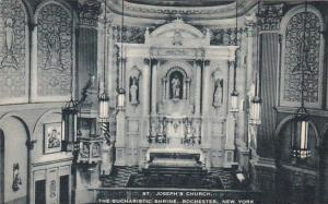 New York Rochester Saint Josephs Church The Eucharistic Shrine Artvue