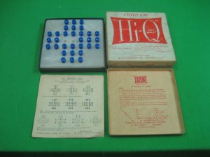 Vintage Antique How's Your Hi-Q A Puzzle Game 1950s Tryne Products