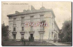 Troyes Postcard Old Courthouse (prices Rue Thiers)