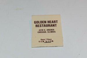 Golden Heart Restaurant Chicago Illinois 20 Strike Matchbook