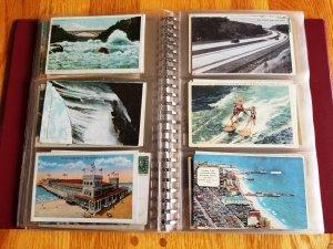 162 Vintage Post Cards in Post Card Album # 3