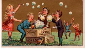 VICTORIAN TRADE CARD,  LAVINE SOAP.