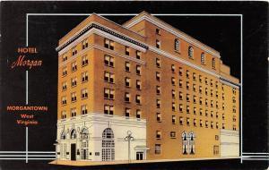 C56/ Morgantown West Virginia WV Postcard 1965 Linen Hotel Morgan