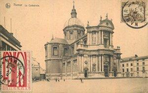 Postcard Belgium Namur cathedrale