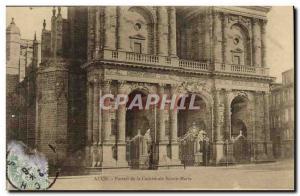 Old Postcard Auch Portal De La Cathedrale Sainte Marie