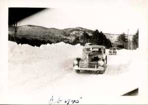 NH - North Conway, Winter, 1945.  River Road after the Storm (3.25 X 4.50)
