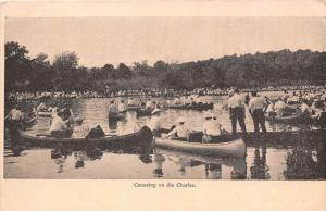 massachusetts  Boston  Canoeing on Charles River