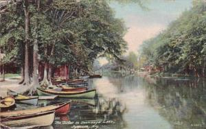 New York Syracuse The Outlet To Onondaga Lake