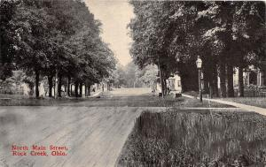 Ohio Postcard 1914 ROCK CREEK North Main Street Homes Ashtabula County