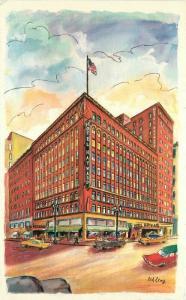 Autos Hotel Wayward International 1950s Lewy Los Angeles California 4742