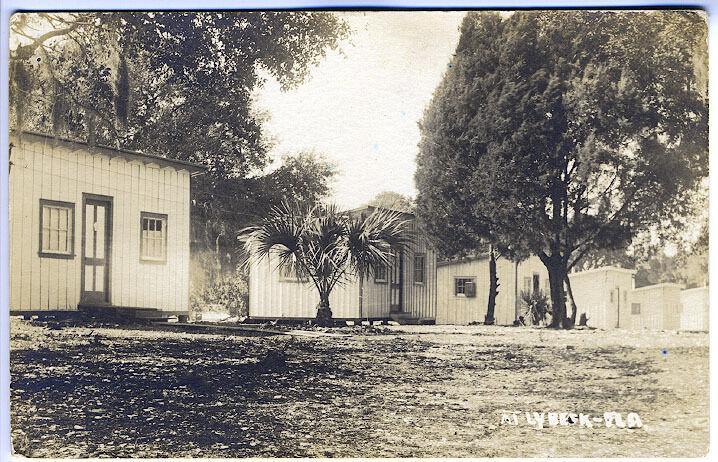 Lybeck Florida Pelotes Island Cottages Real Photo RPPC Postcard