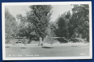 Shoshone City Park Idaho id real photo postcard RPPC