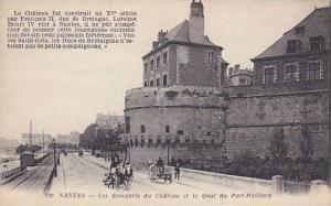Les Remparts Du Chateau Et Le Quai Du Port-Maillard, Nantes (Loire-Atlantique...