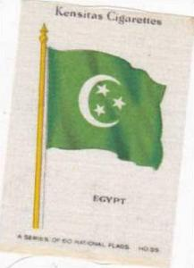Wix Vintage Silk Cigarette Card National Flags 1934 No 55 Egypt