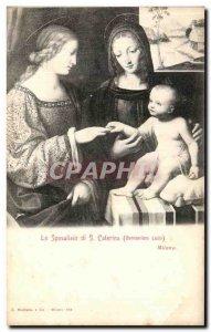 Old Postcard Milano The Sposalizio Caterina di S. Bernardino Luini