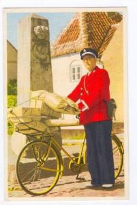 Postman By An Old Mile-Stone, Denmark, 1940-1960s