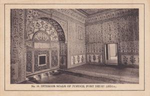 Interior Scale Of Justice, Fort Delhi, India, 1910-1920s