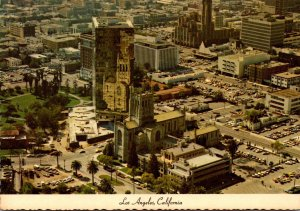 California Los Angeles Aerial VIew From Goodyear Airship Showing Lafayette Park