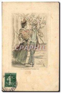 Old Postcard Fantasy Illustrator Woman Henri Boutez The branch & # 39aubepine