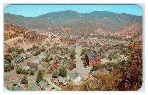 KELLOGG, Idaho ID ~ Birdseye Silver MINING TOWN 1962 Shoshone County Postcard