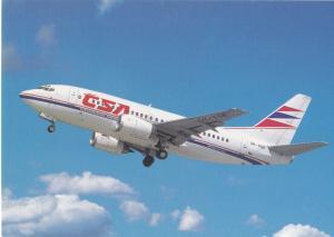 CZECHOSLOVAK AIRLINES, Boeing B 737-500, unused Postcard