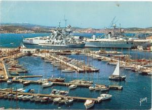 TOULON, Le Port et le Cuirasse Jean-Bart, unused Postcard