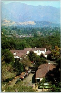 La Canada, California Postcard DESCANSO GARDENS View of Hospitality House