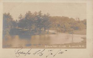 Rochester New Hampshire Country Club Real Photo Antique Postcard K100285