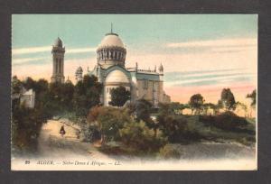 ALGER Algeria Notre Dame d Afrique Africa Postcard Carte Postale ALGERIE PC