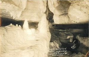 RPPC of Soda Fountain Formation at Bluff Dweller's Cave, Noel Missouri MO