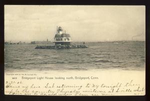 Bridgeport, Connecticut/CT/Conn Postcard, Bridgeport Light House/Light, 1906!
