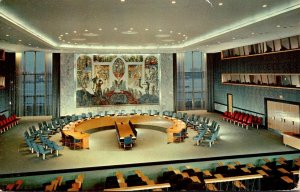 New York City United Nations Security Council Chamber 1954