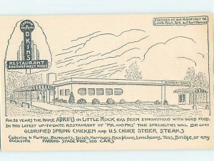 1940's RESTAURANT SCENE Little Rock Arkansas AR AE0265