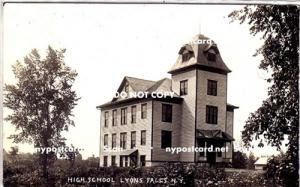 RPPC, High School, Lyons Falls NY