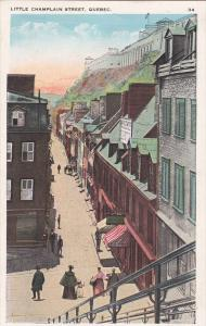 Passenger Elevator Building, Petite Rue Champlain, Quebec, 1900-10s